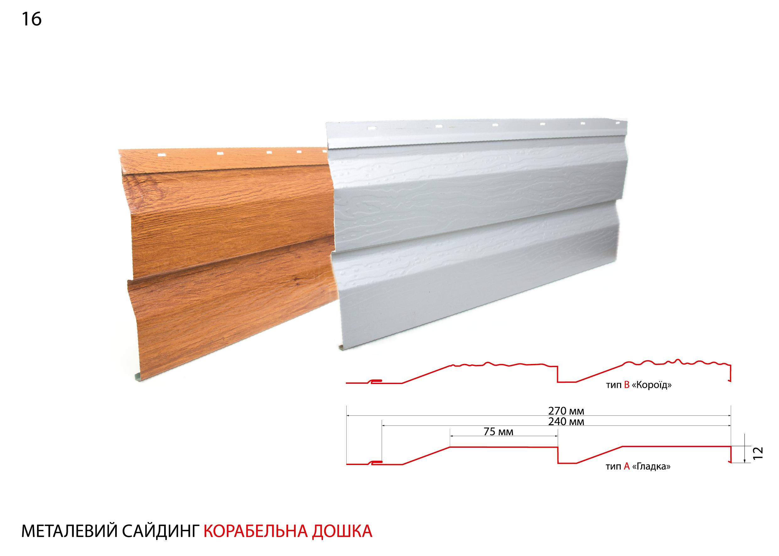Металвий сайдинг Корабельна дошка за найнижчими цінами у Луцьку та Рівному